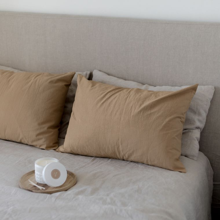 Tussor Pillow - Hazelnut -