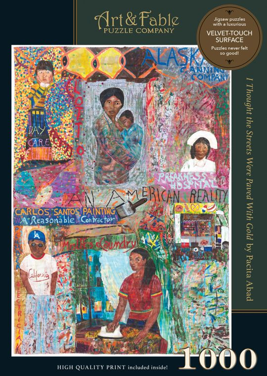 NEW! Streets Paved with Gold; 1000-pc Velvet-Touch Puzzle by artist Pacita Abad