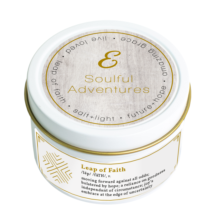 SOULFUL ADVENTURES Leap of Faith Travel Candle | 3.8 oz