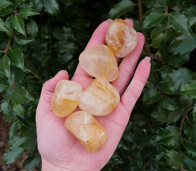 Hematoid Quartz Tumbled Stones
