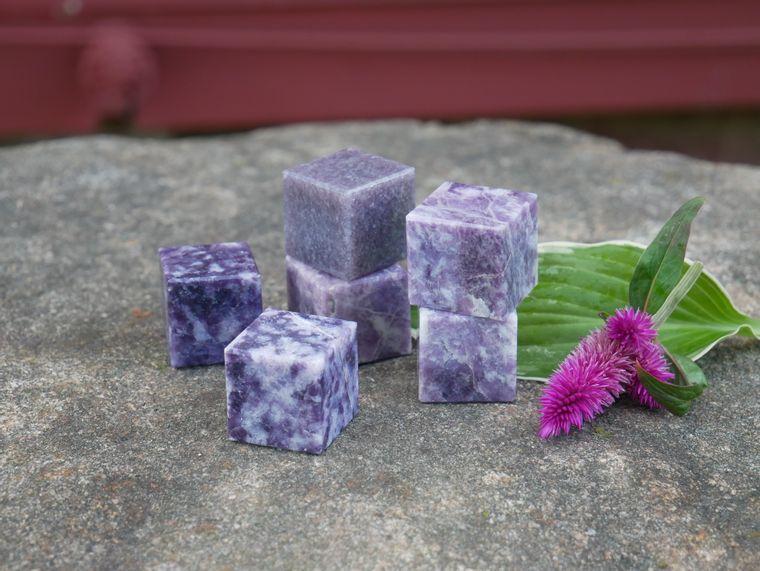 Lepidolite Cube