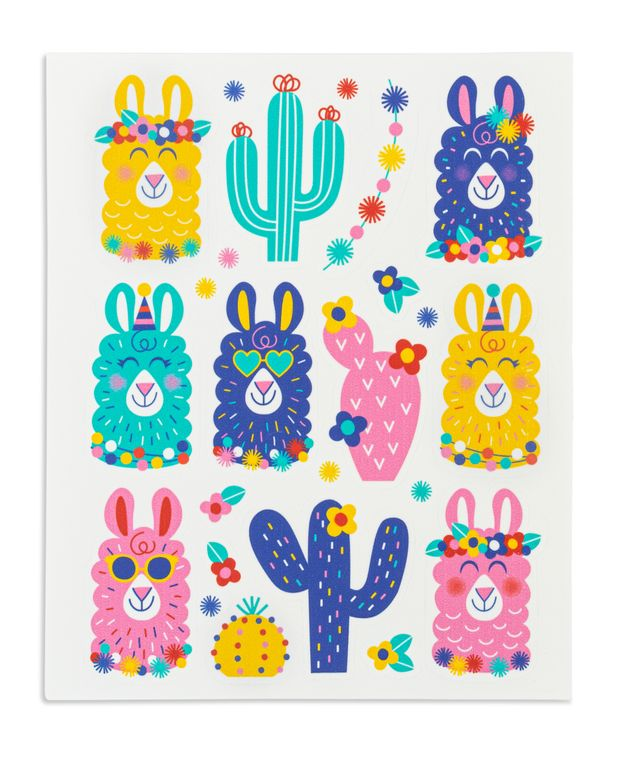 Stickies® Edible Stickers for Easy Pink Llama Cupcakes, Cake, Cookies & Treats