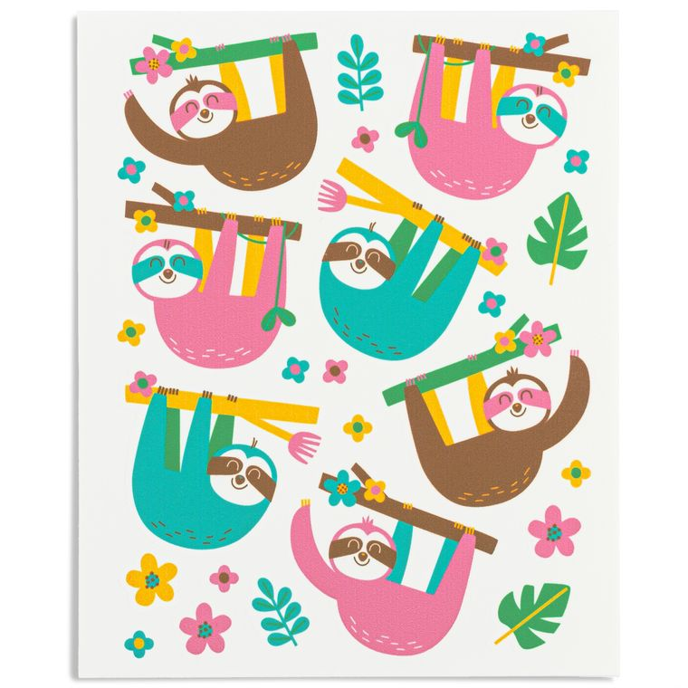 Stickies® Edible Stickers for Easy Sloth Cupcakes, Cake, Cookies & Treats
