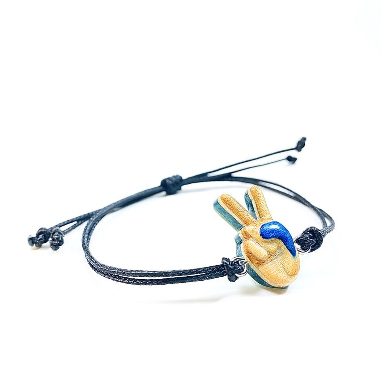 Skateboard Peace Bracelet