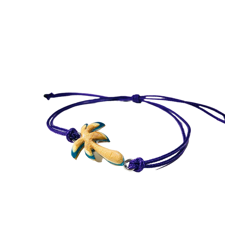 Skateboard Palm Tree Bracelet