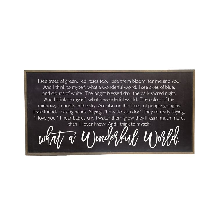 Farmhouse Signs - 32x16 Black Trees Of Green Horizontal Rustic Wood Sign