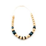 Necklace - Wooden Pompa, Natural