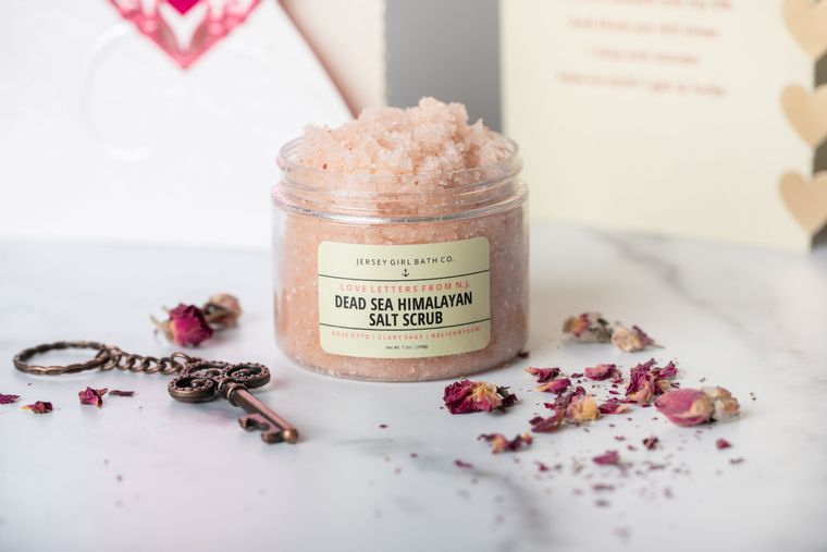 Love Letters From NJ | Himalayan Salt Scrub | Dead Sea Salt Body Scrub