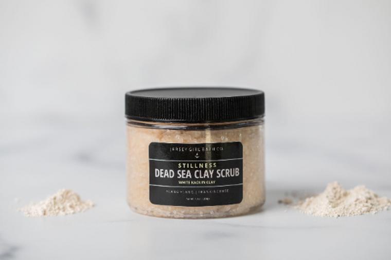 Stillness | Dead Sea Salt Scrub | Dead Sea Clay Scrub | Body Scrub with White Kaolin Clay