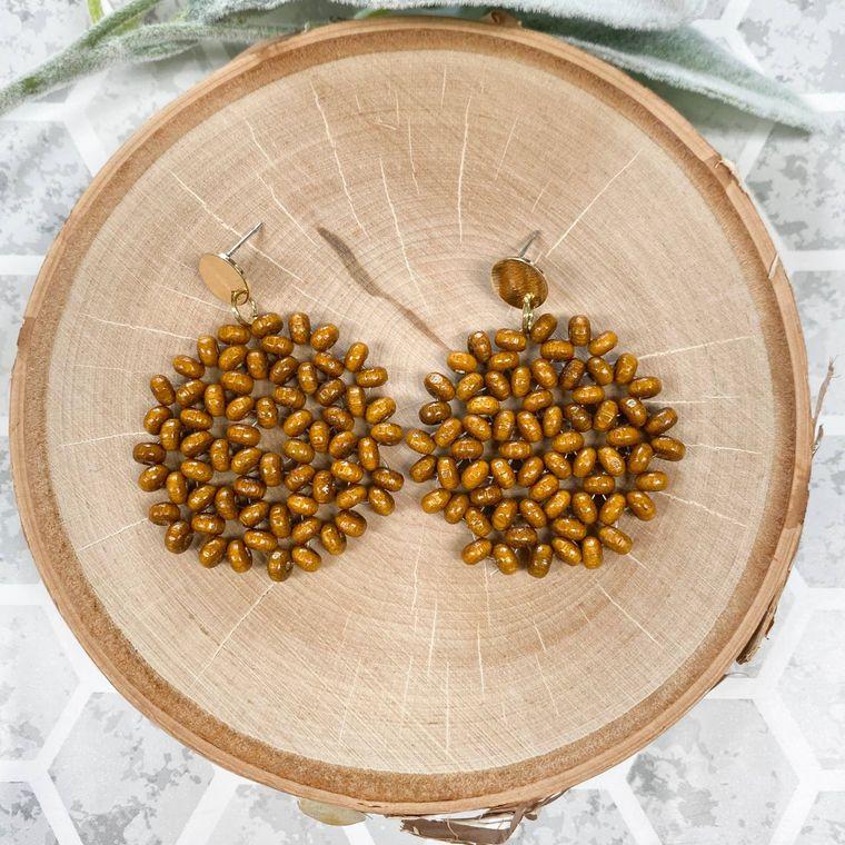 Woody Earrings - Pecan