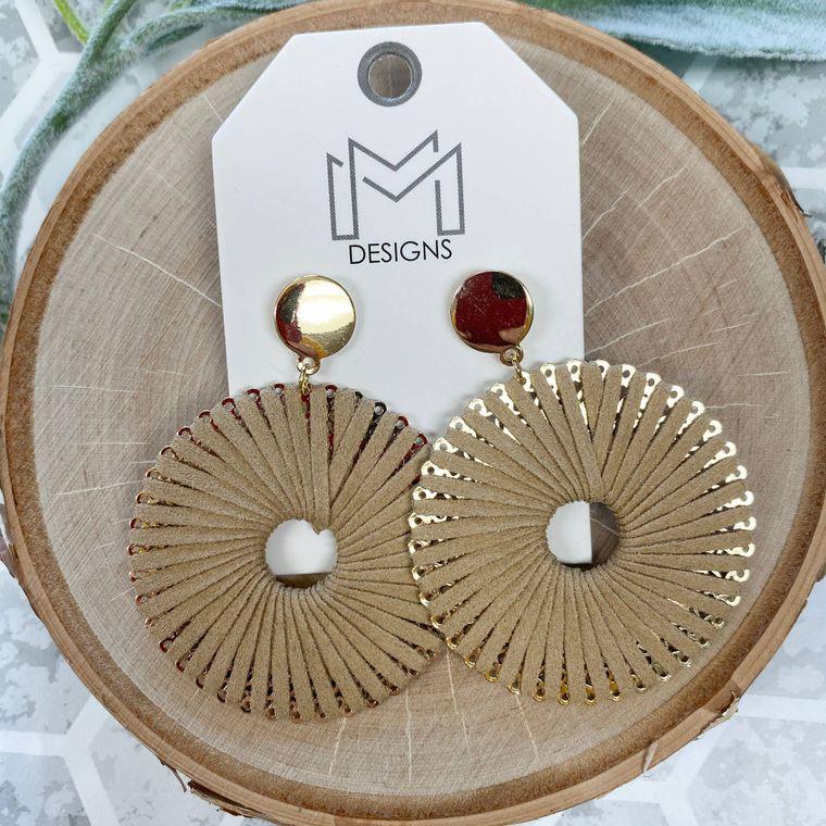 Ra Earrings - Beige