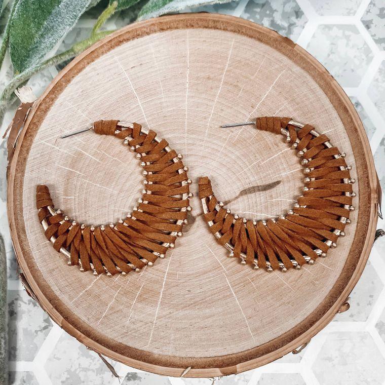 Piper Earrings- Camel