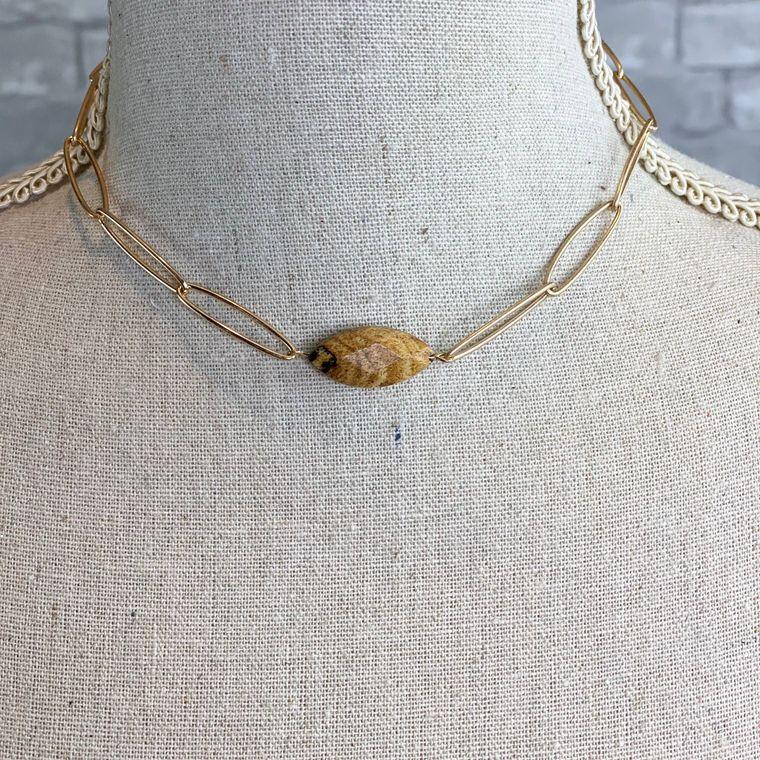 Link Necklace - Jasper