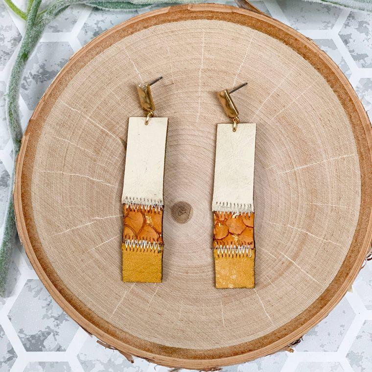 Lilly Earrings - Mustard