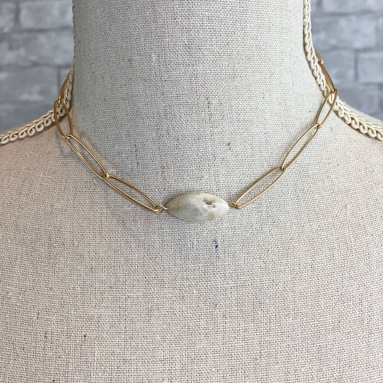 Link Necklace - Amazonite