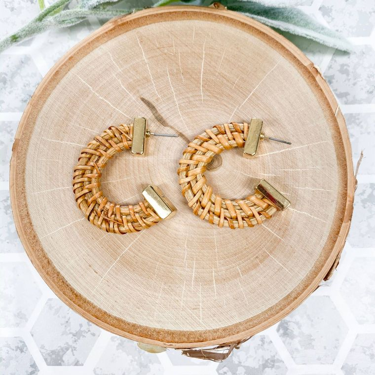 Wicker Earrings - Light