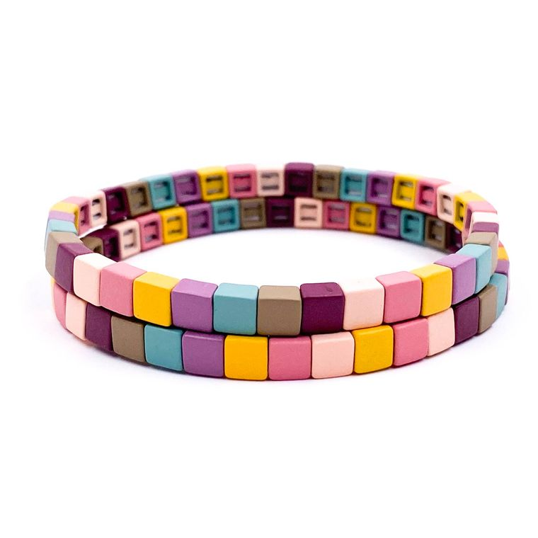 Block Bracelet Set - Brights