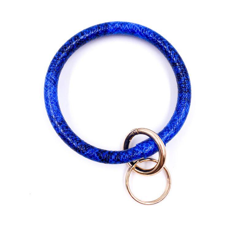 Snakeskin Keyring - Blue