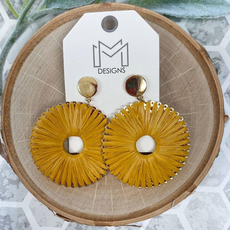 Rafe Earrings - Mustard