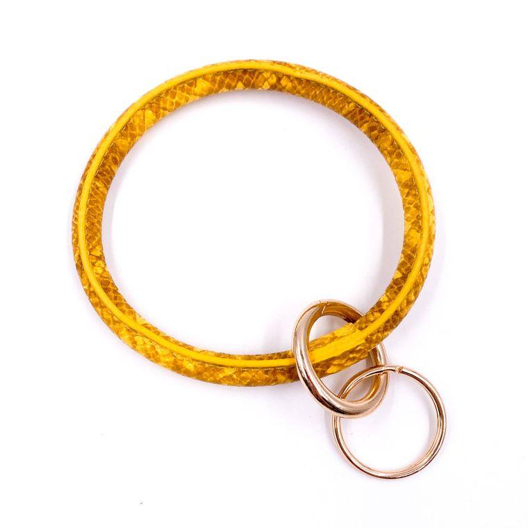 Snakeskin Keyring - Yellow