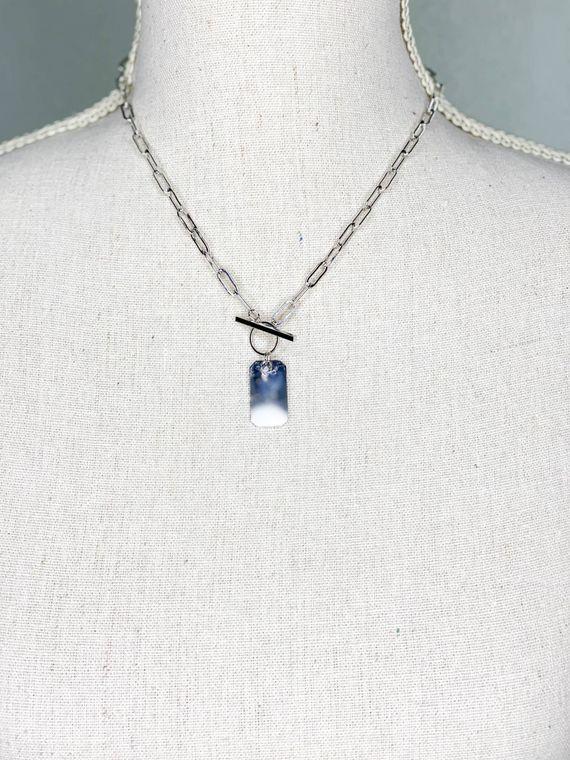 Tag Necklace - Silver