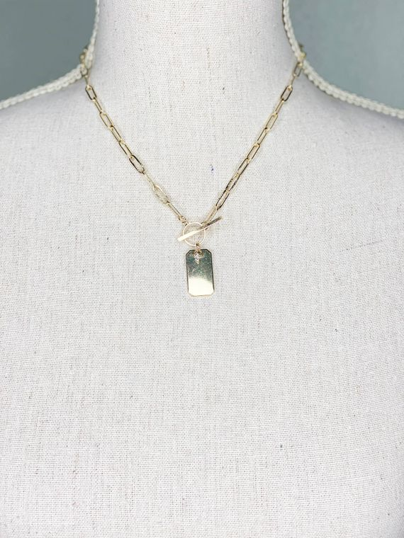 Tag Necklace - Gold
