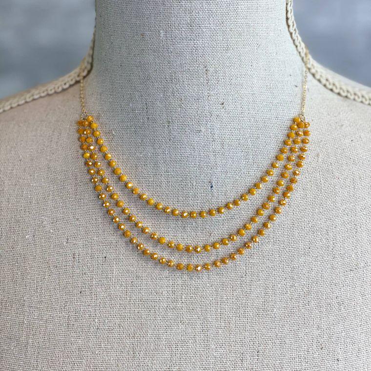 Desiree Necklace - Mustard