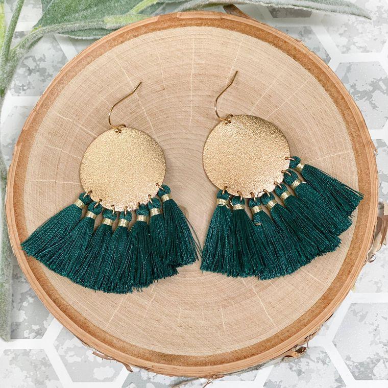 Trudy Earrings - Teal