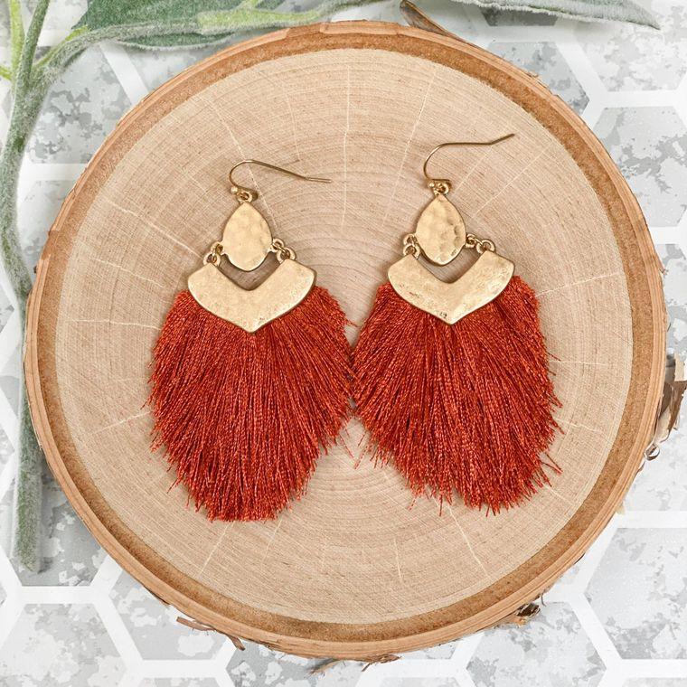 Tagus Earrings - Rust