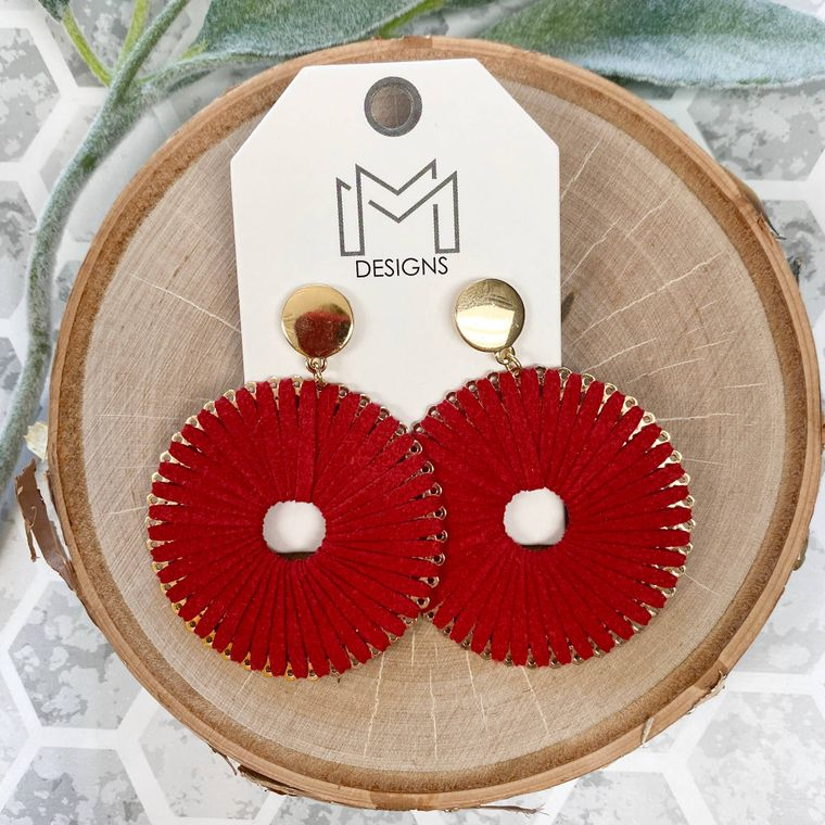 Ra Earrings - Red