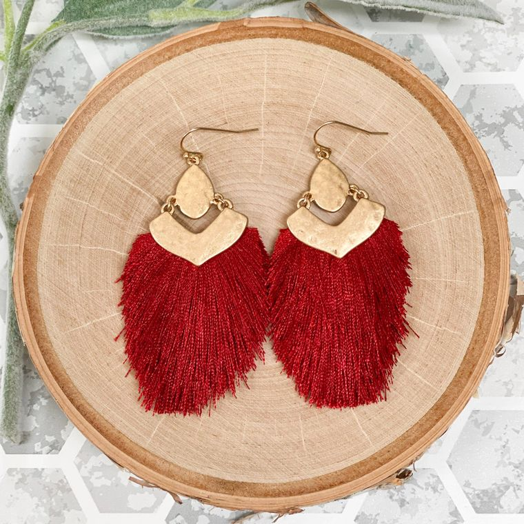 Tagus Earrings - Burgundy