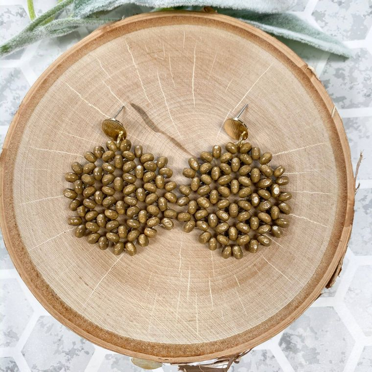 Woody Earrings - Walnut