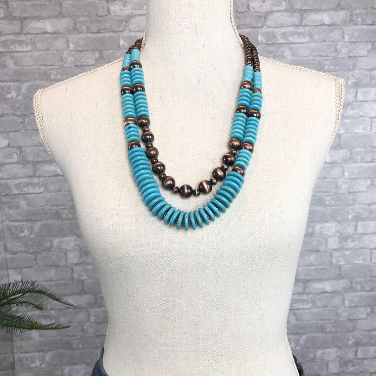Denver Necklace - Turquoise