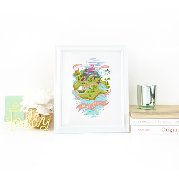 Neverland Map - Art Print