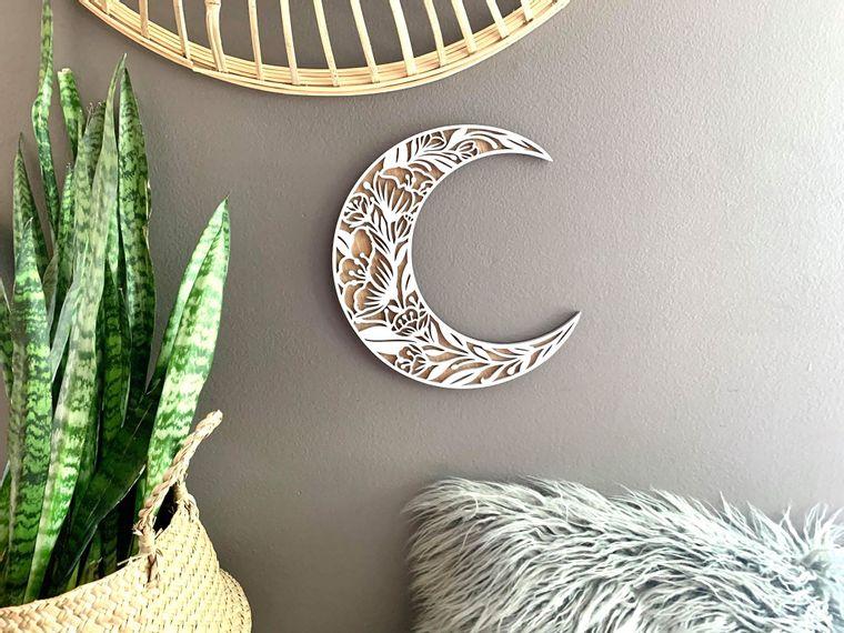 3D Floral Moon