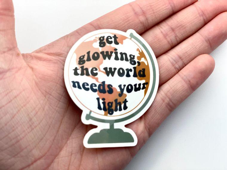 Get Glowing Sticker