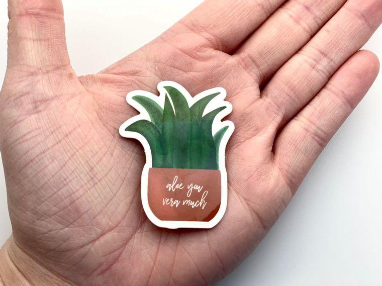 Aloe You Vera Much Sticker
