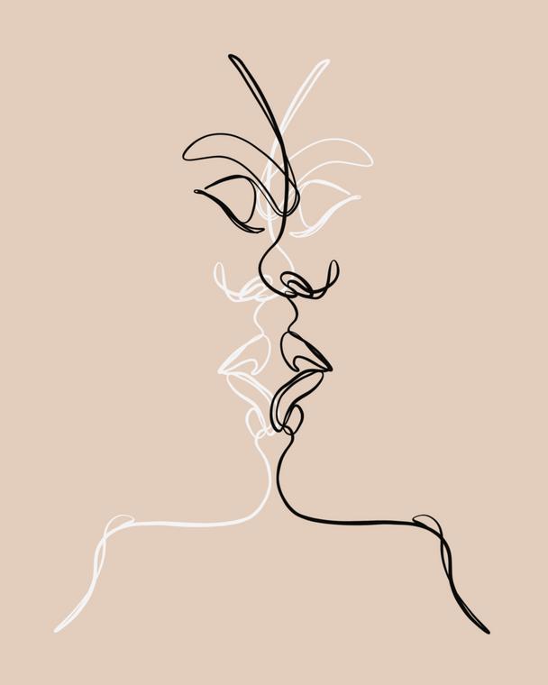 The Kiss - 8x10 Print