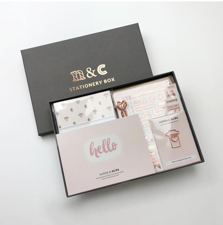 Blush & Rose Gold Stationery Gift Box