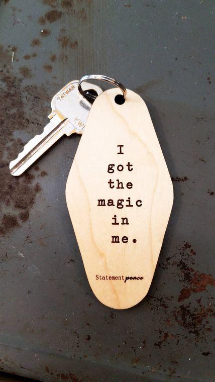 Retro Motel Keychain