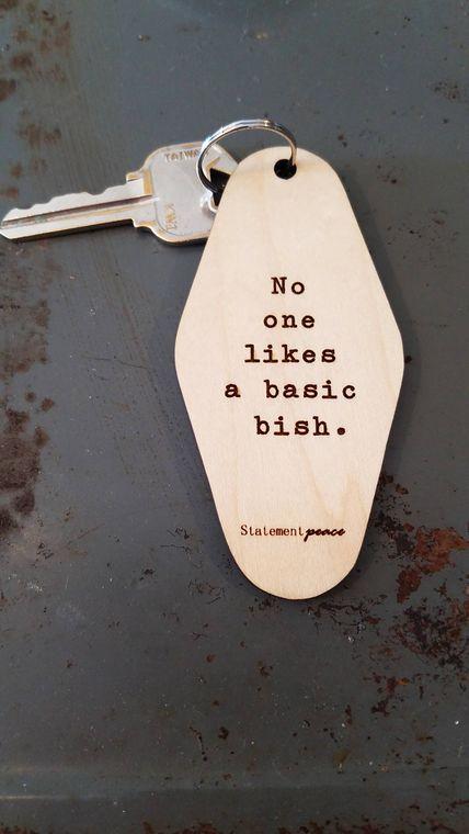 Basic Bish Keychain