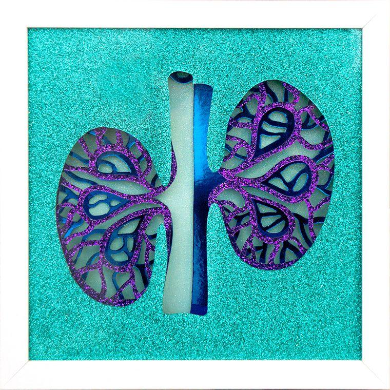 Turquoise Kidney