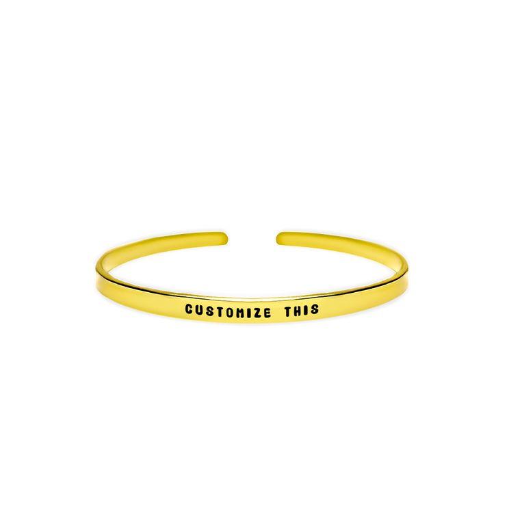 Custom Quote Cuff Bracelet