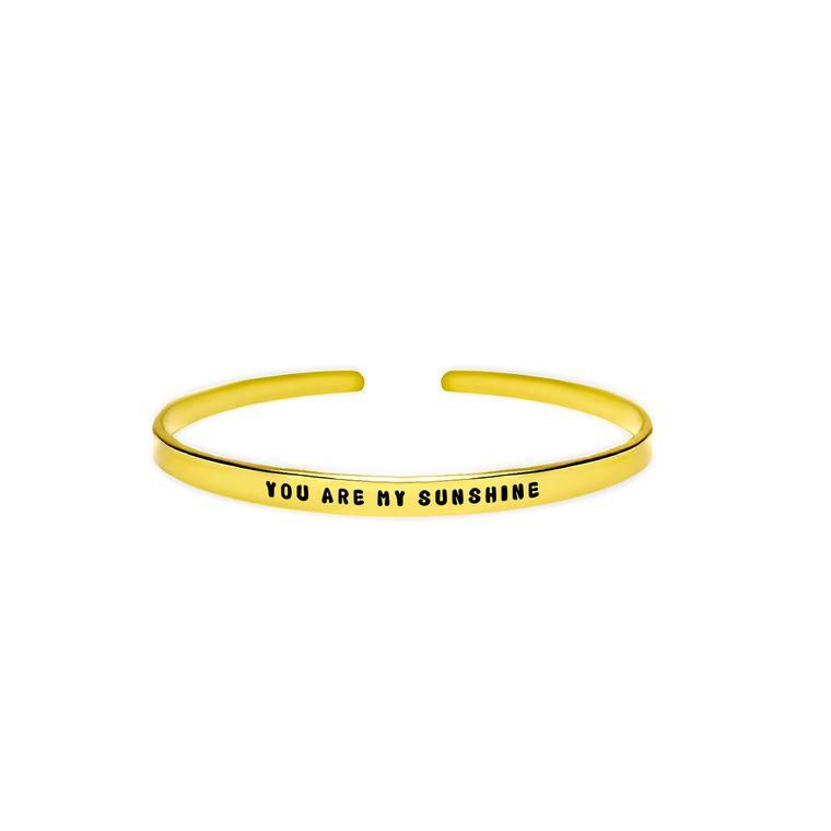 You Are My Sunshine Cuff Bracelet