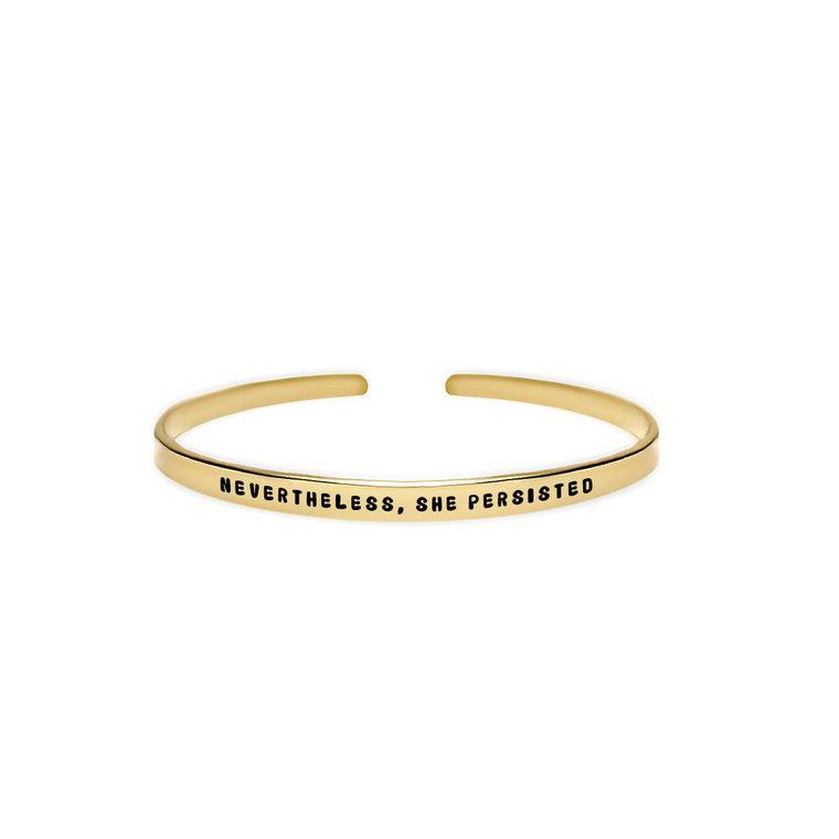 Nevertheless, She Persisted Cuff Bracelet