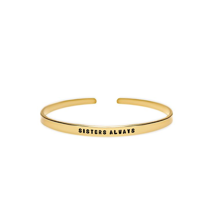 Sisters Always Cuff Bracelet