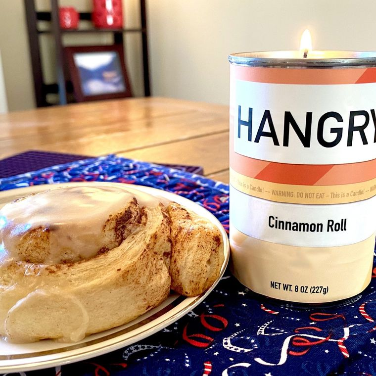Hangry Cinnamon Roll Candle