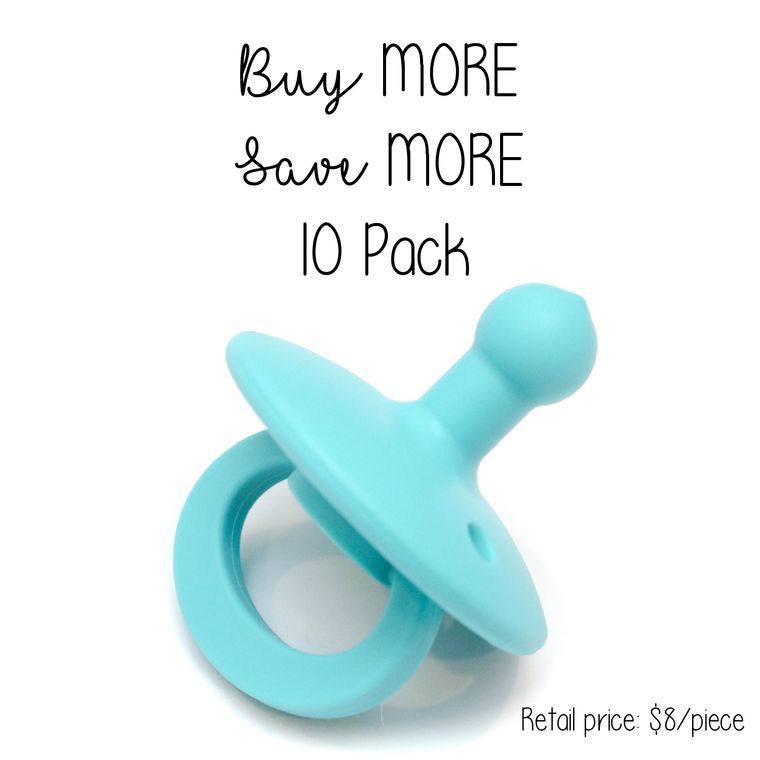 OLI2 pacifier : 10 Pack Turquoise