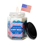 Red White Blue: 9.1 oz 4th of July jar candle (Lavender scent)