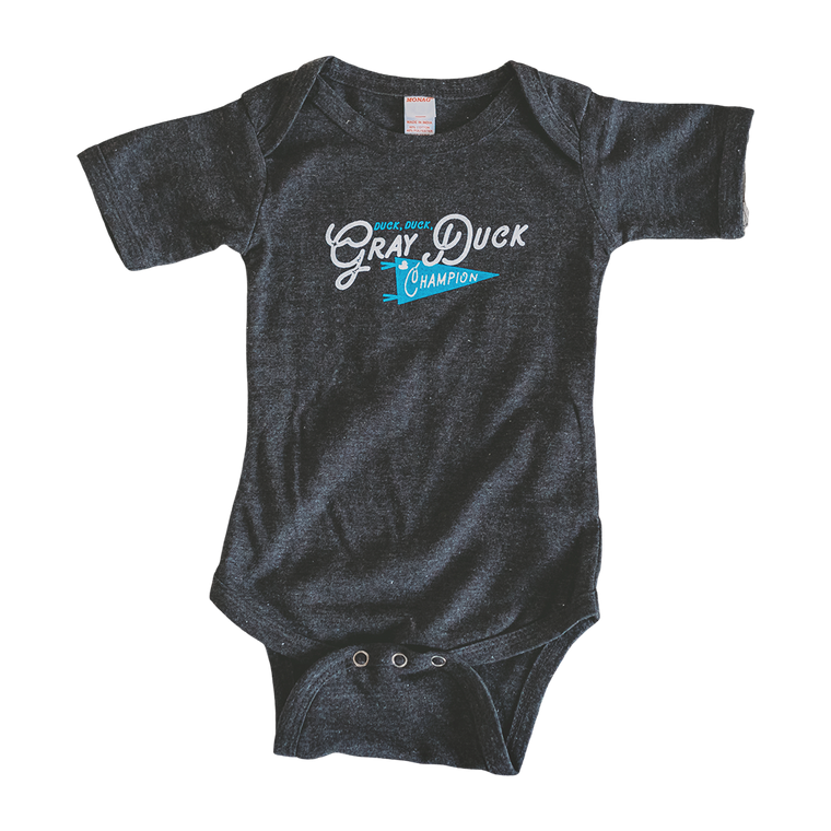 Gray Duck baby bodysuit